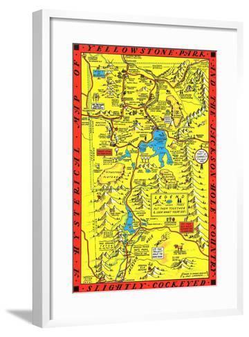 Yellowstone Park Map--Framed Art Print