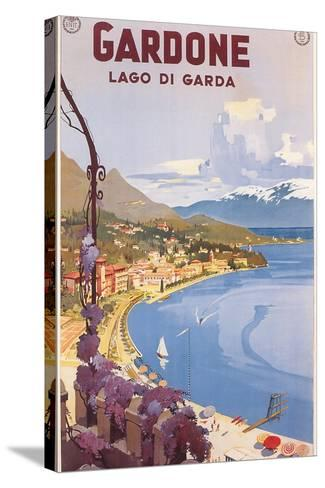 Travel Poster for Garda Lake--Stretched Canvas Print