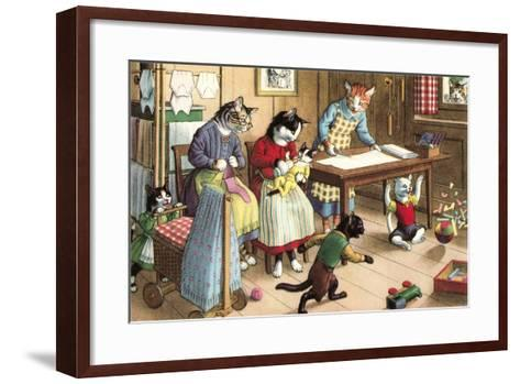 Homeschooling Crazy Cats--Framed Art Print