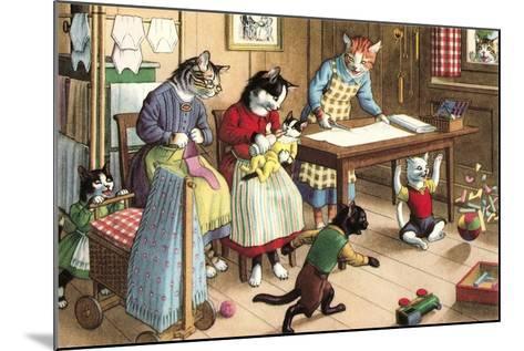 Homeschooling Crazy Cats--Mounted Art Print