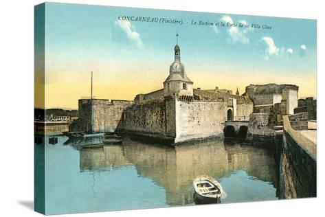 Fortress at Concarneau--Stretched Canvas Print