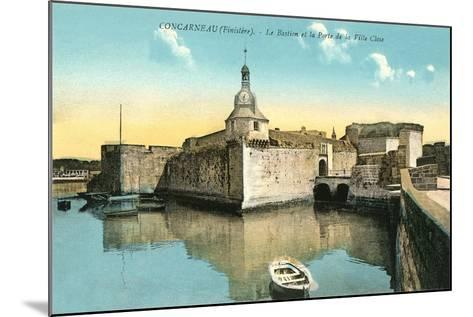 Fortress at Concarneau--Mounted Art Print