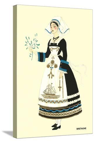 Native Costume of Brittany--Stretched Canvas Print