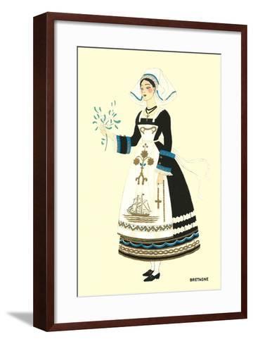 Native Costume of Brittany--Framed Art Print
