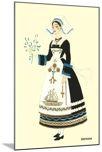 Native Costume of Brittany--Mounted Art Print