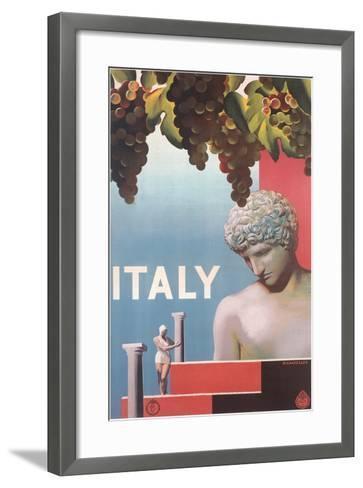 Travel Poster for Italy--Framed Art Print