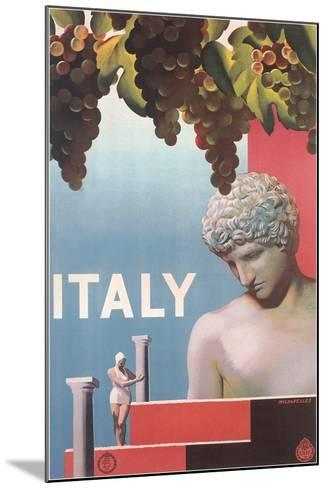 Travel Poster for Italy--Mounted Art Print