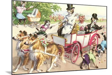 Newlywed Crazy Cats--Mounted Art Print