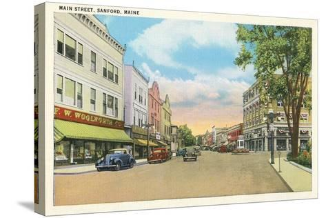 Main Street, Sanford--Stretched Canvas Print