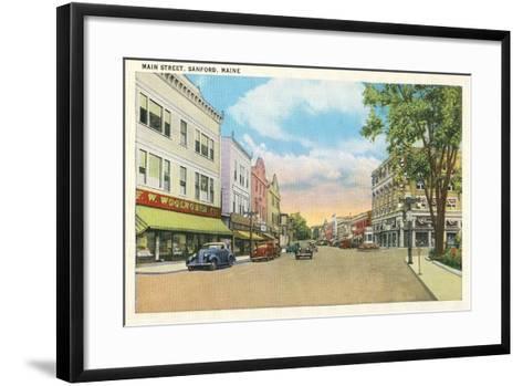Main Street, Sanford--Framed Art Print