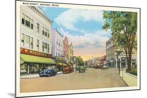 Main Street, Sanford--Mounted Art Print
