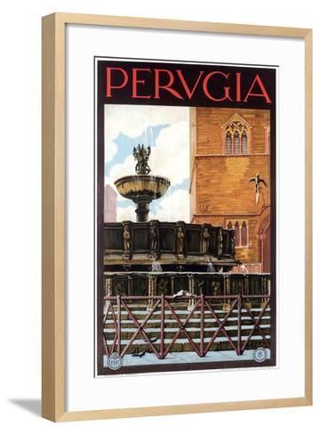 Travel Poster for Perugia--Framed Art Print