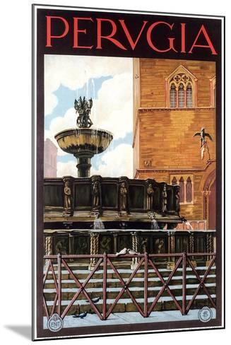 Travel Poster for Perugia--Mounted Art Print