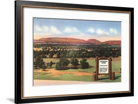 Sign for Continental Divide--Framed Art Print