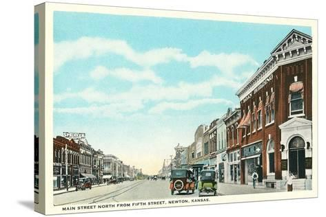 Main Street, Newton--Stretched Canvas Print