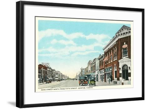 Main Street, Newton--Framed Art Print