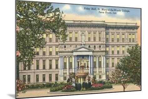 St, Mary of the Woods College, Terre Haute--Mounted Art Print