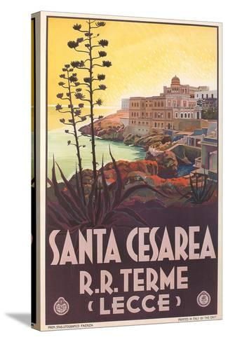 Travel Poster for Santa Cesarea--Stretched Canvas Print