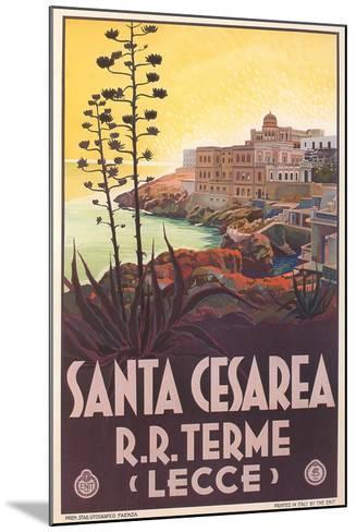 Travel Poster for Santa Cesarea--Mounted Art Print