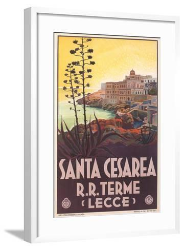 Travel Poster for Santa Cesarea--Framed Art Print
