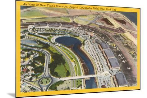 Aerial View of Laguardia Field--Mounted Art Print