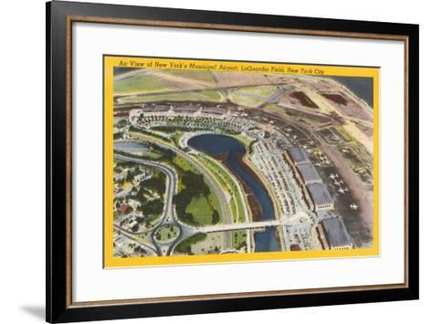Aerial View of Laguardia Field--Framed Art Print