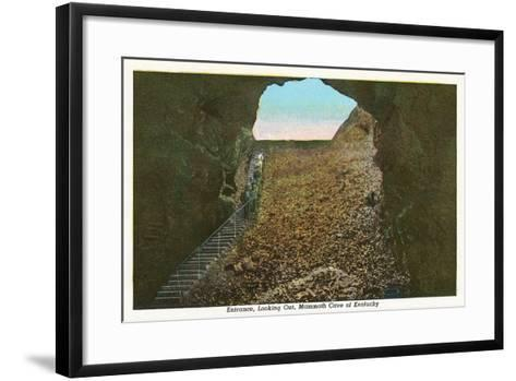 Mammoth Cave Entrance Looking Out--Framed Art Print