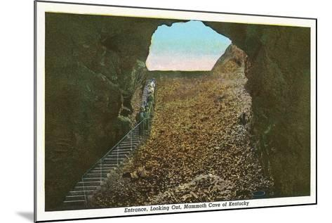 Mammoth Cave Entrance Looking Out--Mounted Art Print