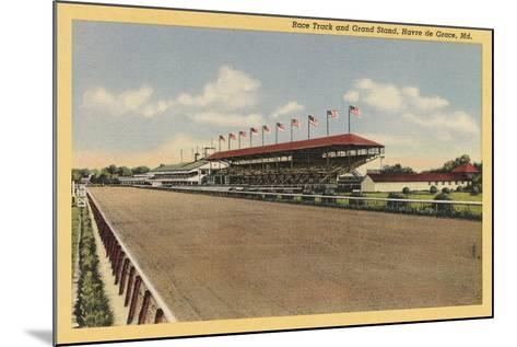 Race Track, Grandstands, Havre de Grace--Mounted Art Print