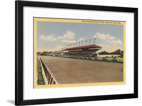 Race Track, Grandstands, Havre de Grace--Framed Art Print