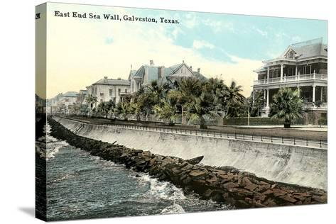 Sea Wall, Galveston--Stretched Canvas Print