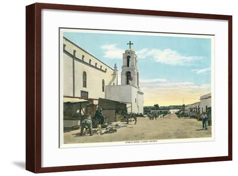 Street Scene, Early Juarez, Mexico--Framed Art Print