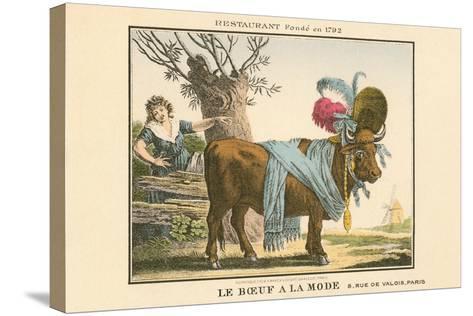 Le Boeuf a La Mode Resaurant--Stretched Canvas Print