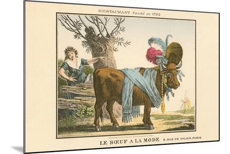 Le Boeuf a La Mode Resaurant--Mounted Art Print
