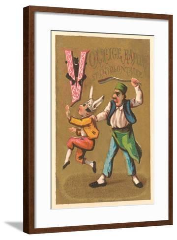 V, Voltige Rapide et Involuntaire--Framed Art Print