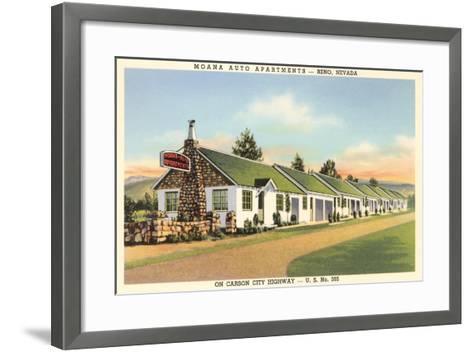 Moana Auto Apartments, Reno, Nevada--Framed Art Print
