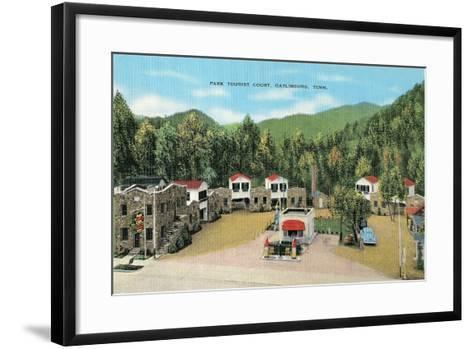 Park Tourist Court, Gatlinsburg--Framed Art Print