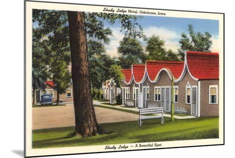 Shady Lodge Motel, Oskaloosa, Iowa--Mounted Art Print