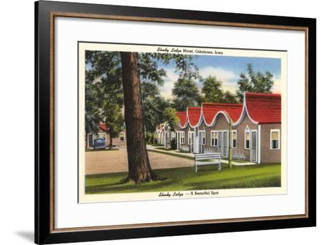 Shady Lodge Motel, Oskaloosa, Iowa--Framed Art Print