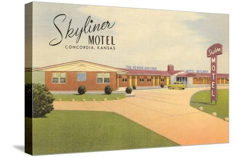 Skyliner Motel, Concordia, Kansas--Stretched Canvas Print
