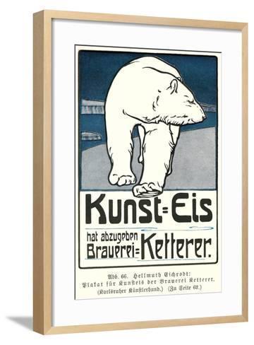 Polar Bear, Art Is Ice--Framed Art Print