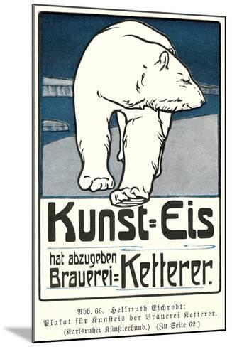 Polar Bear, Art Is Ice--Mounted Art Print