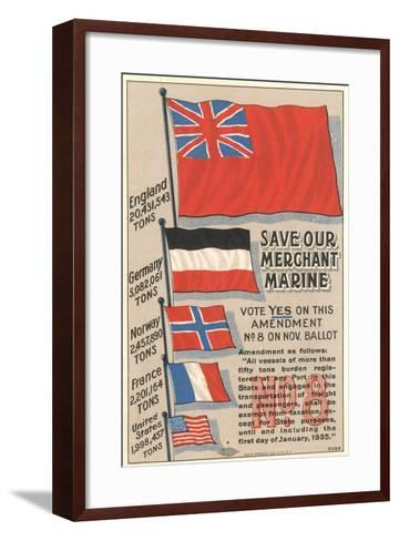 Save Our Merchant Marine--Framed Art Print