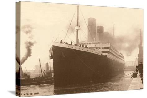 Titanic at the Dock--Stretched Canvas Print