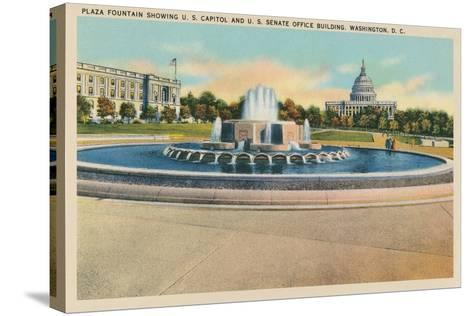 Plaza Fountain, Senate Office Building--Stretched Canvas Print