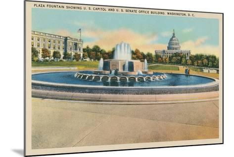 Plaza Fountain, Senate Office Building--Mounted Art Print