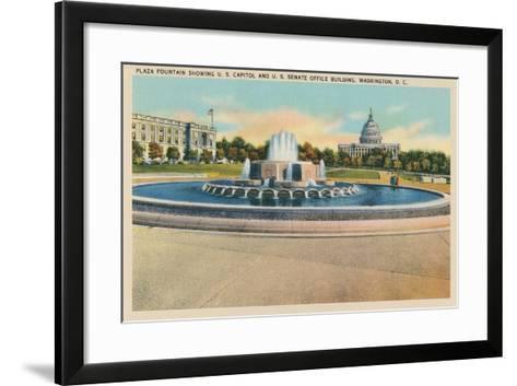 Plaza Fountain, Senate Office Building--Framed Art Print
