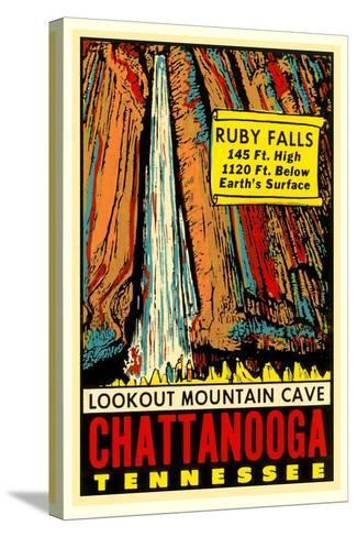 Chattanooga Decal, Ruby Falls--Stretched Canvas Print