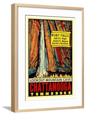 Chattanooga Decal, Ruby Falls--Framed Art Print