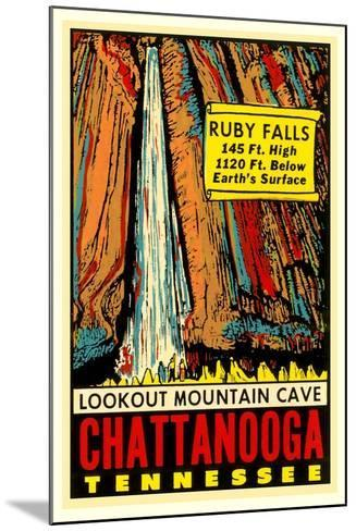 Chattanooga Decal, Ruby Falls--Mounted Art Print